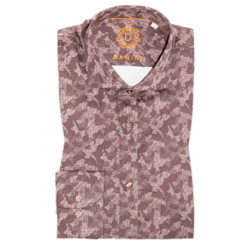 Light and Deep Burgundy Fusion Sport Shirt