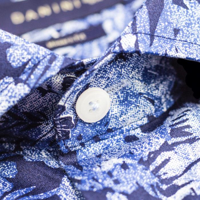 Blue Short Sleeve Modern Fit Shirt