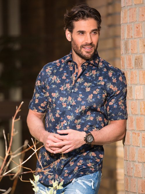 Floral Print Shirt, Short Sleeve Shirt