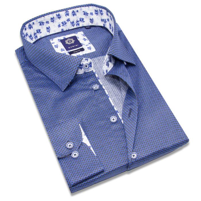 Blue Sport Shirt - Collar Shirt