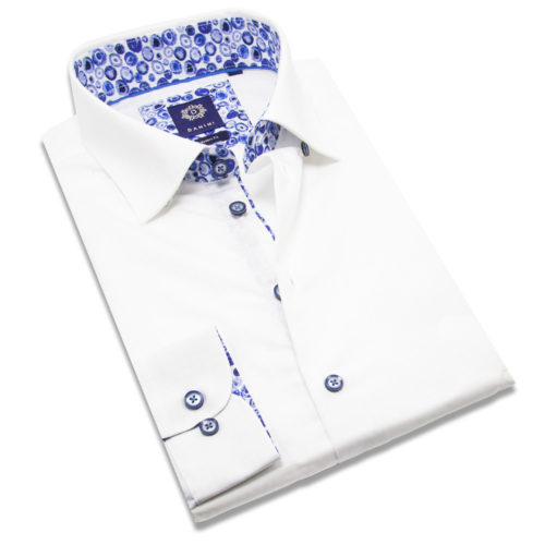 white Sport Shirt with Collar