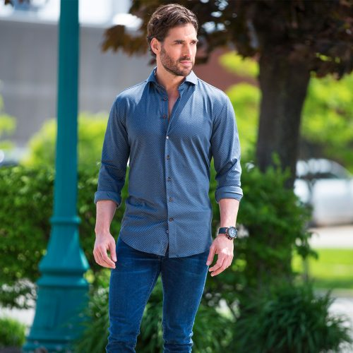 Fashionable Blue Designer shirt