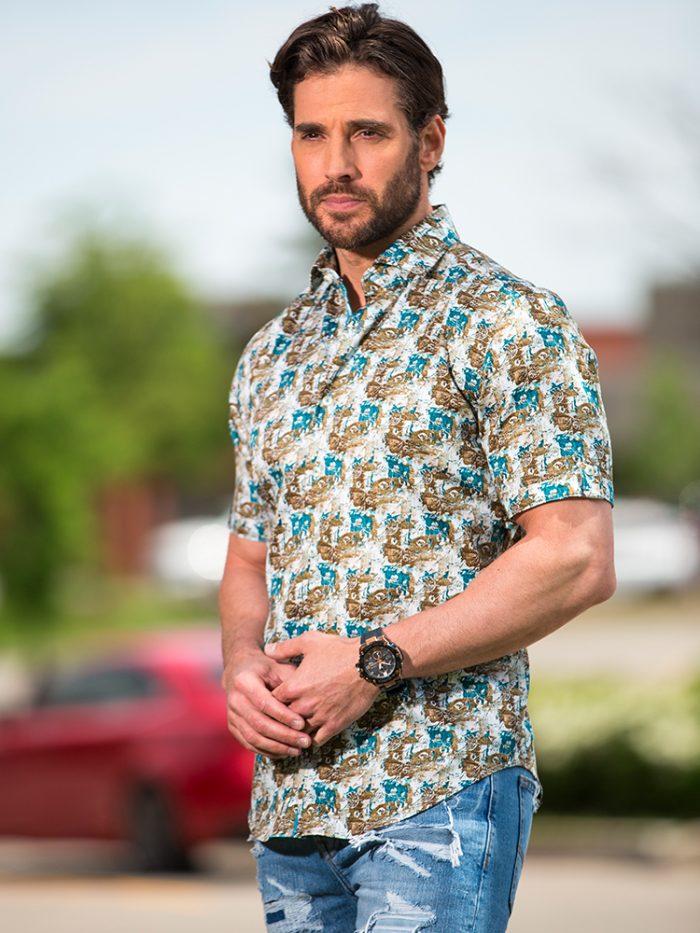 Short Sleeve Modern Fit Shirt Mississauga