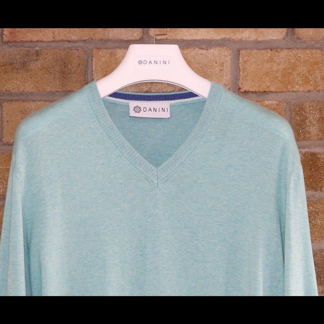 Aqua V Neck Sweater