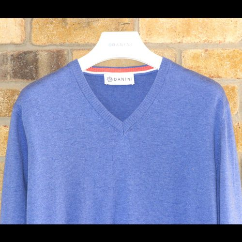 Blue V Neck Sweater