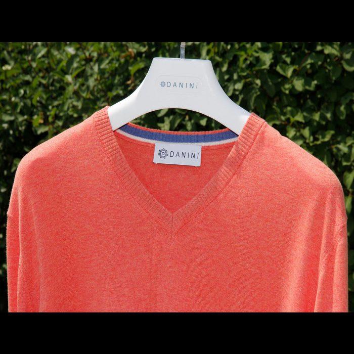 Orange V Neck Sweater