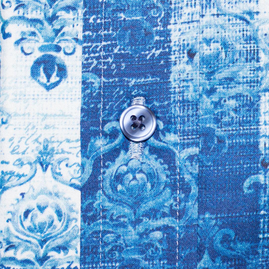 Blue Button Men's Shirt