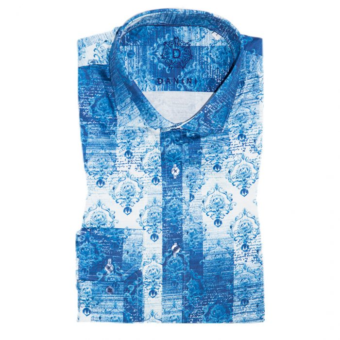 Fashionable Men's Blue Shirt