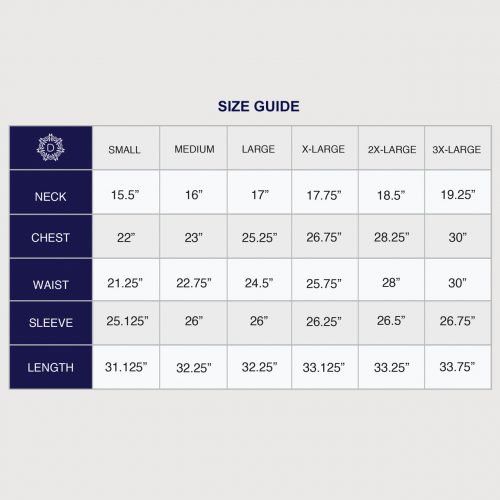Danini Size Guide