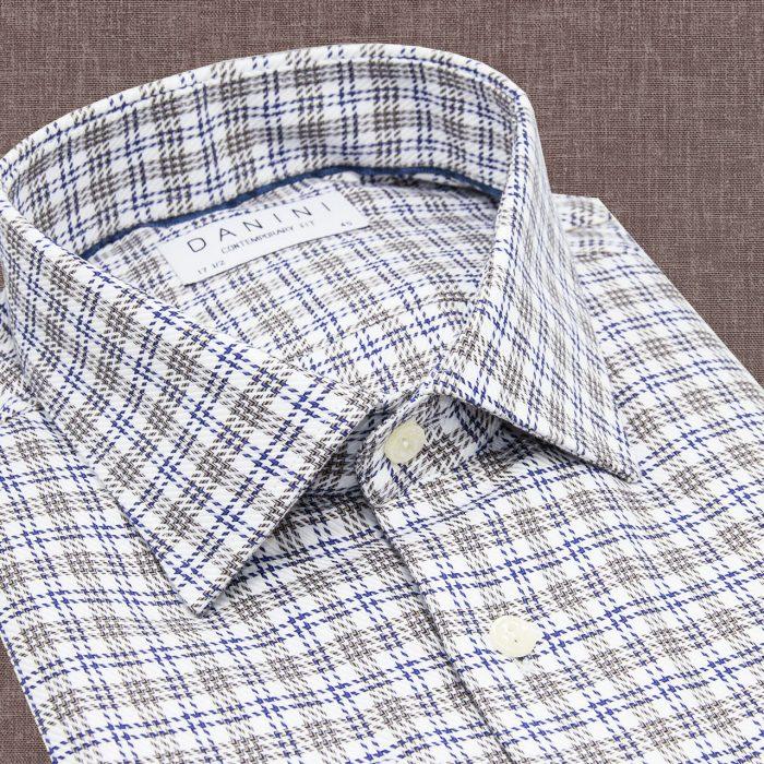 Men's check Collar Shirt