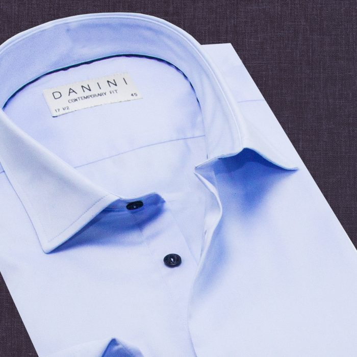 Baby Blue Shirt With Stylish Buttons