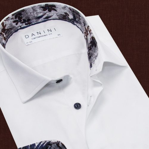 White Color Trendy Collar Shirt