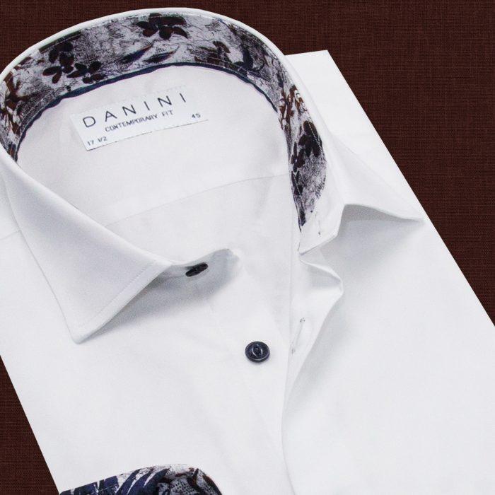 White Color Trendy Collar Shirt