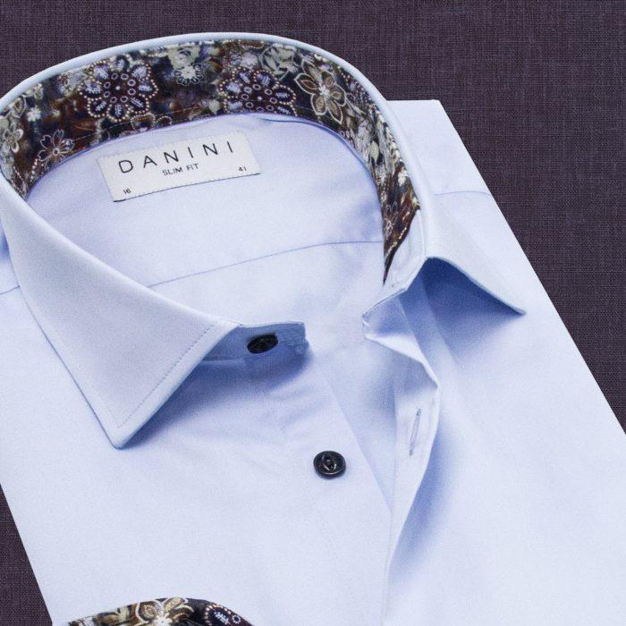 Collar Shirt Light Blue Color