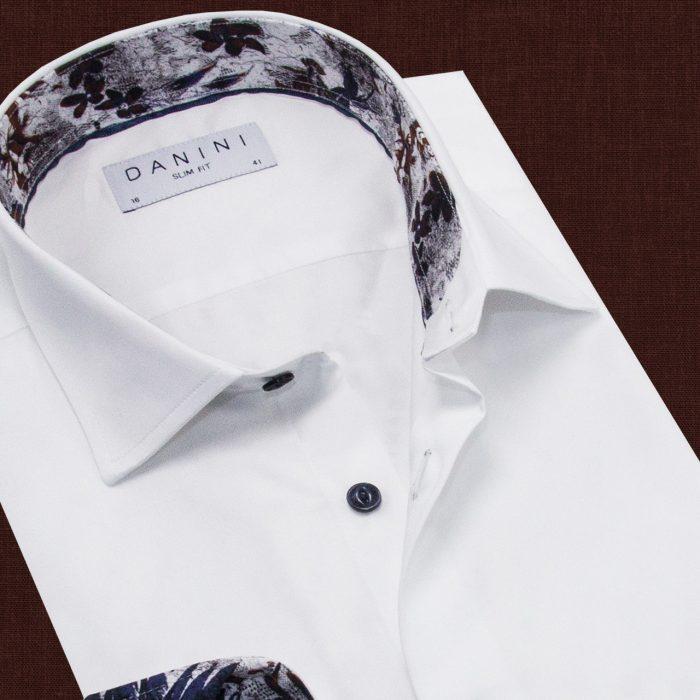 White Men's Fashionable Shirt