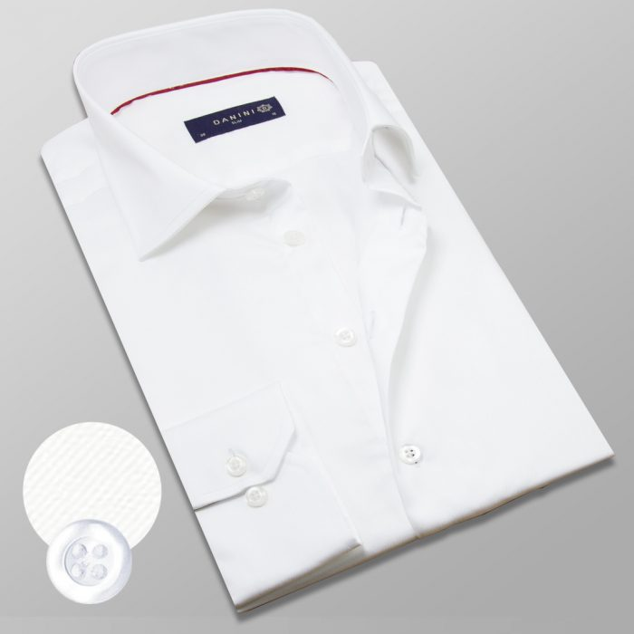 Plain White Shirt White Buttons