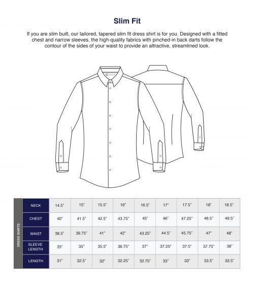 Danini Size Guide Shirts