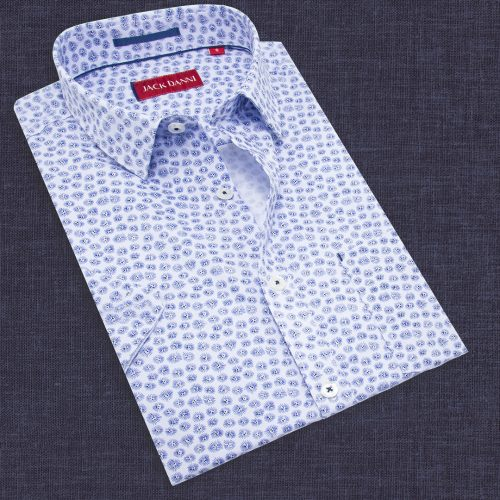 Men's Blue Collar Shirt