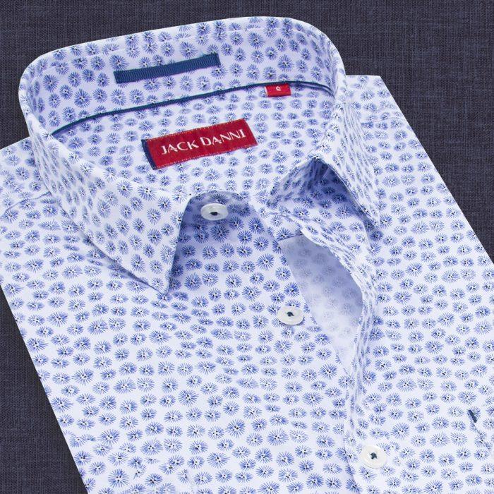 Blue Color Designer Printed Shirt