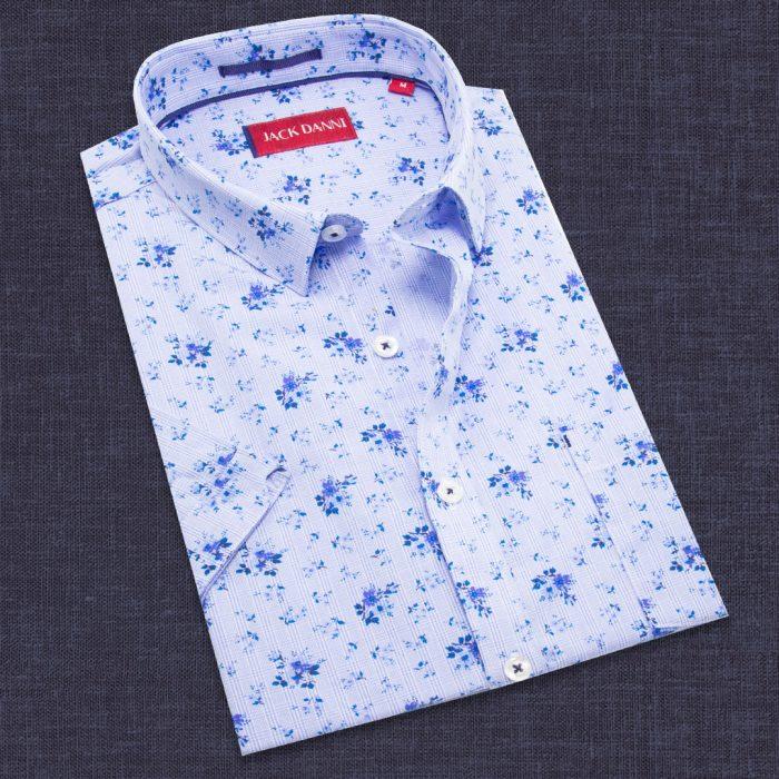 Trendy Blue Shirt, Collar Shirt Canada