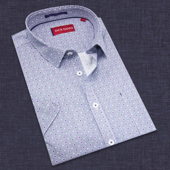 Men's Blue Printed Shirt