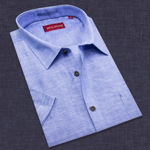 Short Sleeve Men's Blue Shirt