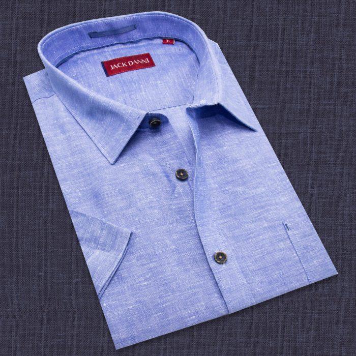 Short Sleeve Men's Blue Shirt