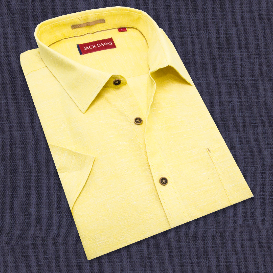 Yellow color plain shirt