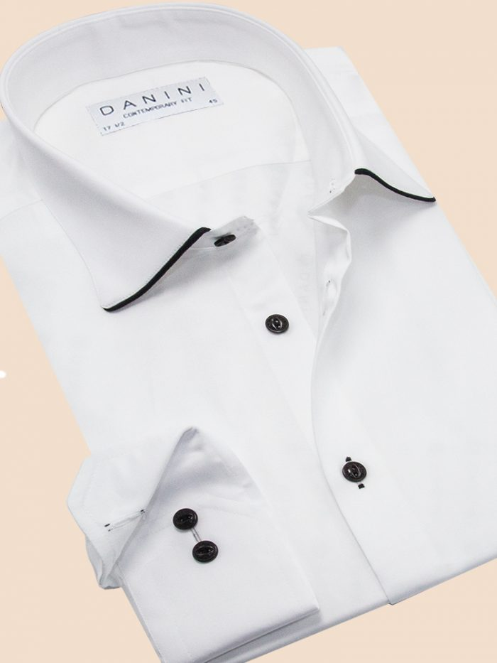 White Contemporary Fit Shirt