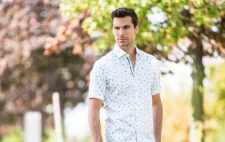 white cotton shirt, mens collar shirt,